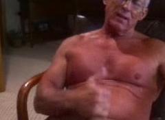 dimension to grandpa on webcam