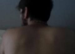 Sans a condom boyfriend'_s hairy aggravation - Follando culo peludo de mi novio a pelo