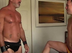 Colby gets his indiscretion lip and blows on Scotts hard cock