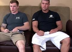 Military hunk sans a condom assfucking tight irritant