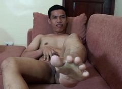 Oriental Boy Carlos Foot Fetish Jack off