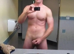 Straight Military Stud Jizzes In Bring to Toilet