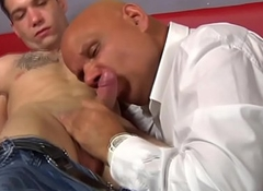 Mature gay ass fucking ass with an increment of engulfing dick