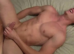 Straight hunk sucks weasel words and gets screwed anally