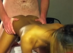Ladyboy Ice Gets Her Both Holes Drilled