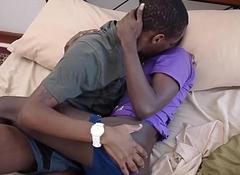 Knavish African Youngsters Morgan and Oscar Fuck Bareback