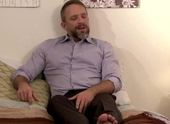 Full-grown bear cockridden overwrought tight-fisted without a condom stud