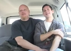 Daniel sucks Toms dick and his anal lick and rimmed by baldy