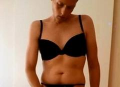Danish Transvestite Ladyboy - T-girl Show 2 (G-string &amp_ Bra)