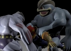 Machamp and Machoke fucks Captain Falcon