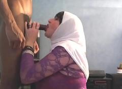 ejac sur mon hijab