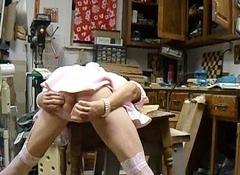 Chicken self spanking