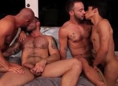 4 man for a group making love