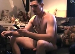 Straight hunk deep throated by cockhungry gay