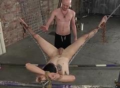 Kieron Knight riding Timmy Treasure close-fisted ass on the hammock