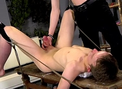 Free gay domination juvenile old Aaron use to be a gimp fellow himself,