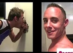 Joyous guy ass fucked on tap gloryhole by straighten[8]
