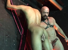 Bald studly master scores his boy sub to the fore non-standard