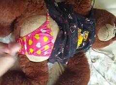 spunk on satin panties