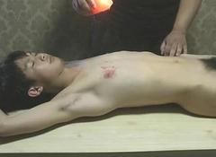 Naked Related Boy Got Hot Wax