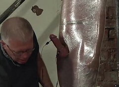 Cameron James acquiring wrapped in plastic and a hawt handjob