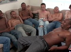 Extreme Without a condom Bukkake Gay Soirees Video 11