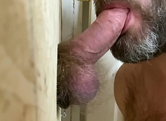 Sucking a Big Awl Dick at a GloryHole