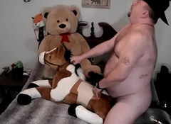 Uncut Plushie Gone tomorrow Curvature to Cur� Fucking His Stuffed Horse and Teddy Curvature to