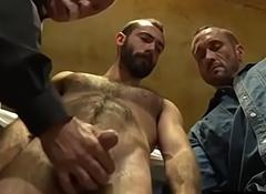 Mature Celebrant having sex apropos 2 convicts- HairyDaddySex.com