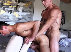 Travis Splits Oliver's Stingy Firsthand Ass For The First Time Ever Relating to A Glum FlipFuck!