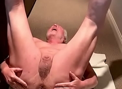 Subslut grandpa spreads his crevice wide
