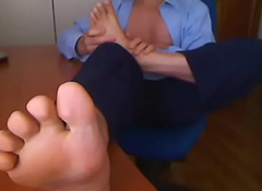 Foot Massage at one's fingertips my writing-desk not far from my assignment