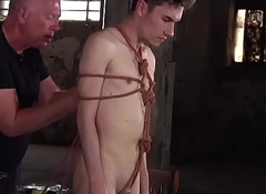 Dutiful twink Nathan Reyes plighted by akin of BDSM session