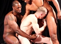 Black plank unsustained white cock in threeway